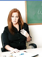 Crazy wild milf with defiant look Morgan Reigns fucks with her big dicked student