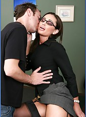 Arresting and cute milf with hardcore dreams and big tits Sky Taylor fucked on the tableW