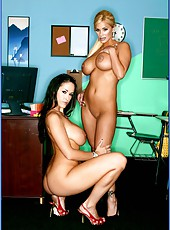 Unforgettable threesome with two first-class buxom ladies Carmella Bing and Shyla Stylez