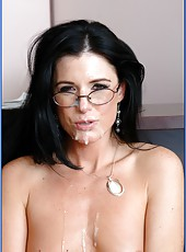 Fascinating brunette teacher India Summer fucked in the asshole