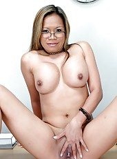 Busty mulatto teacher Mrs. Ludy banged hard by blonde student