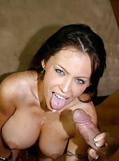 Brunette with hot breast Jenna Presley takes off her sexy lingerie for a hot fuck