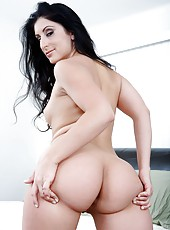 Black-haired beauty Luscious Lopez banged sweet in her bedroom