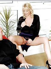 Mature hottie with big tits Starr willingly gets in every hole of her sweet body