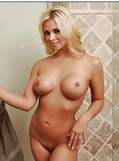 Astounding blonde with big tits Sarah Vandella sucks, fucks and then sucks again