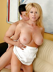 Mrs. Carolyn Monroe takes her son