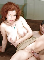 Sergio gets a passionate blowjob from a busty lady named Susan Evans