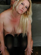 Passionate blonde mature Mrs. Taft decided to taste a hot young dick