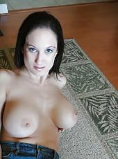Busty brunette chick Stephanie Wylde fucks like a horny and dirty slut