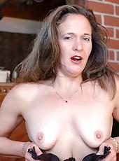 Brunette milf Charlei demonstrates all her secrets just for you