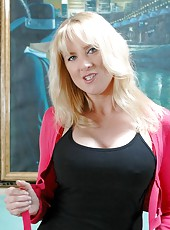 Nasty hottie Bethany Sweet shows her trimmed pussy and sexy boobs