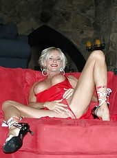 Mrs. Lott looks so crazy and hot when she undresses her red lingerie