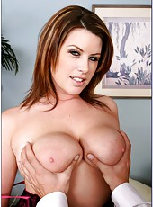 Super appetizing milf Lily Paige with huge melons fucked in her perfect pussy