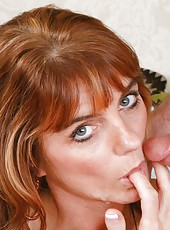 Seductive babe Trisha Lynne riding a big wiener and getting satisfied