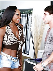Ravishing whore Diamond Jackson takes part in an awesome interracial sex