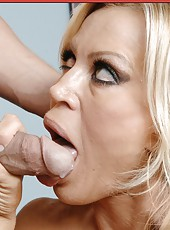 Amber Lynn Bach opens her sweet mouth and tastes her fucker