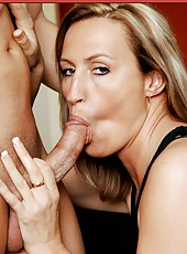 Fabulous milf Joey Lynn takes a strong cock in the sweet mouth
