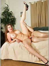 Lucky pornstar June Summers enjoys her friend