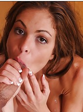 Crazy milf Hunter Bryce loves banging hard and eating delicious cum