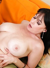 Chubby minx Karen Kougar loves riding big dicks and getting cumshots