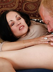 Aesthetic slut Claudia Atkins gets pleased only when sucks a delicious rod