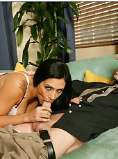 Appealing minx Raylene is always fond of sucking and riding big daggers