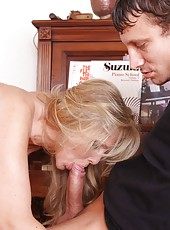 Cuddly blonde Julia Ann fucking like never before and reaching orgasm