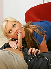 Remarkable pornstar Allison Kilgore doing whatever she wants with a young boy