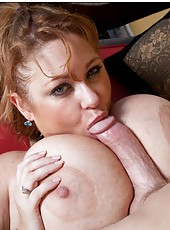 Sensate babe Samantha 38G loves swallowing big daggers and gets cumshots