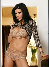 Breathtaking milf Shay Sights posing in lingerie and showing her round butt