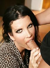 Ardent milf Shay Sights making a high-class deepthroat and enjoying cum
