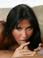 Adorable milf Lezley Zen reaching orgasm only when sucking big cocks