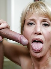 Topnotch wife Olivia Parrish having fun with young boys and their wieners