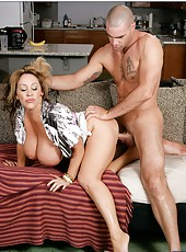 Fascinating bitch Kandi Cox fucking in doggystyle and getting a cumshot