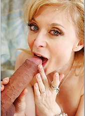 Adorable minx Nina Hartley wants to please her new young boyfriend