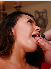 Demonic pornstar Caressa Celeste rides a hard wiener and gets satisfied