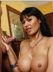Bewitching milf Eva Karera seduced her neighbor and fucked him hard