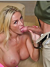 Rebellious babe Evita Pozzi invited a young chap and fucked him hard