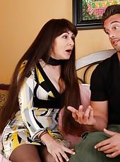 Erotic lady Alexandra Silk prefers making deepthroats and getting cum