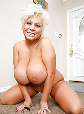 Gentle minx Claudia Marie doing awesome things with her big tits