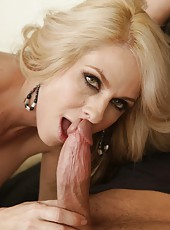 Nasty wife Angela Attison prefers making deepthroats and riding big cocks