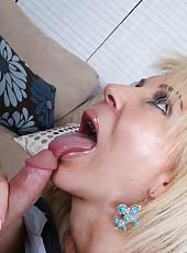 Marvelous slut Erica Lauren prefers to ride huge dicks and gets delicious cum