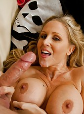 Classy chick Julia Ann fucking with random guys and receiving pleasure