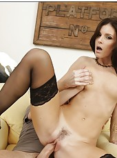 Small-boobed flapper India Summer wants to fuck with her young neighbor