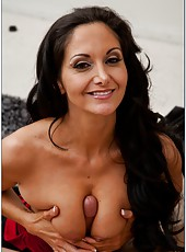 Pretty whore Ava Addams makes a deepthroat and waits for a facial cumshot