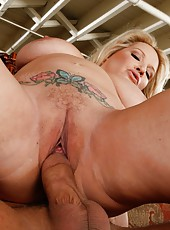 Splendid babe Rachel Love taking part in a hardore action with her friend