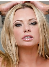 Bewitching pornstar Briana Banks showing awesome ass and masturbating