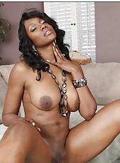 Winning milf Nyomi Banxxx showing chocolate ass and masturbating