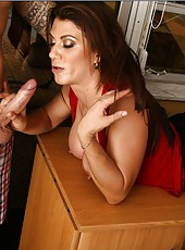Glamorous coquette prefers fucking with strangers right in the office