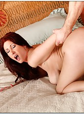 Astounding babe Tiffany Mynx making a deepthroat and waiting for a drill